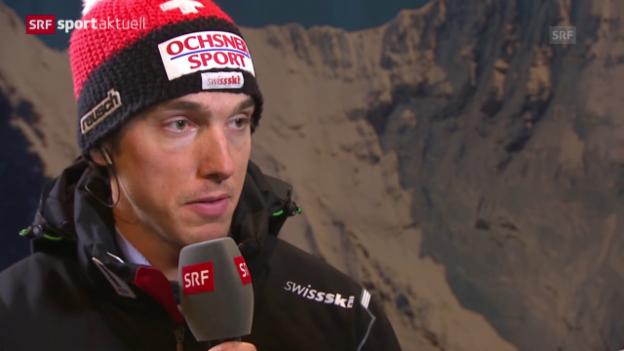 Video «Ski: Wengen-Sieger Carlo Janka im Gespräch» abspielen