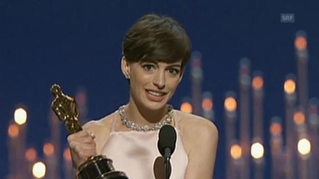 Video «Oscar-Rede von Anne Hathaway (beste Nebenrolle)» abspielen