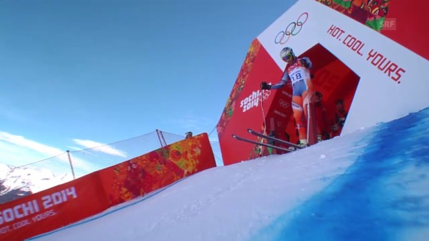 Video «Ski, Männer-Abfahrt, Training, Fahrt Svindal» abspielen