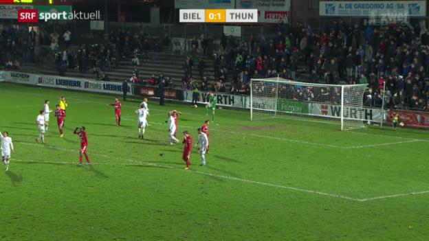 Video «Fussball: Cup-Achtelfinal, Biel - Thun» abspielen