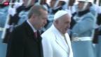 Video «Papst ruft in der Türkei zum Frieden auf» abspielen
