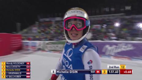 Video «Michelle Gisin fährt erneut in die Top 10» abspielen