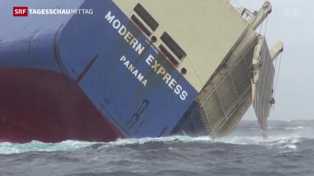 Video «Führerloses Frachtschiff: Letzter Rettungsversuch» abspielen