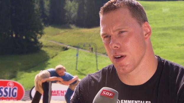 Video «Matthias Sempach und Christoph Bieri über das Eidg. Schwingfest» abspielen