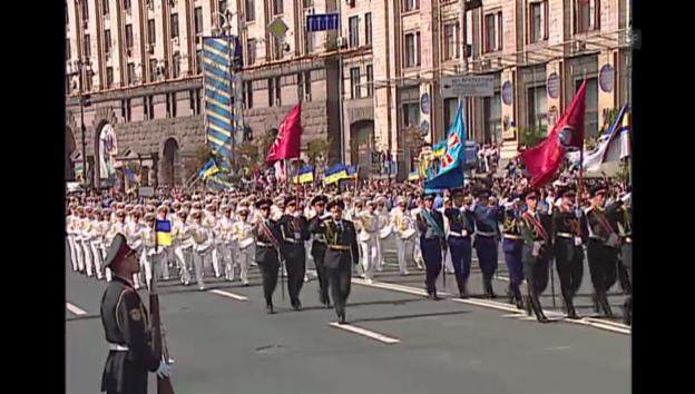Video «Militärparade in Kiew» abspielen
