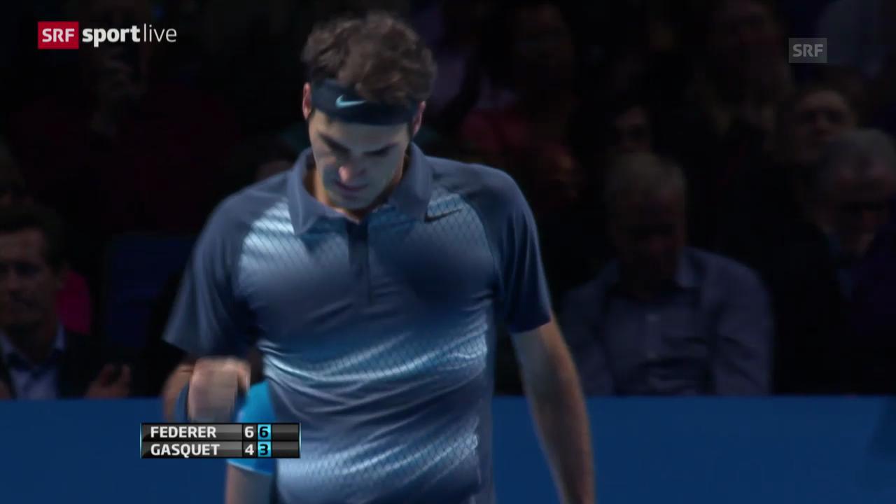 Tennis: ATP Finals, Roger Federer - Richard Gasquet