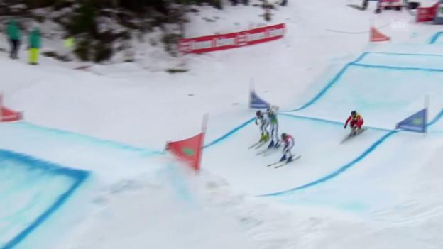 Video «Freestyle-WM in Kreischberg: Skicross Männer, Viertelfinal mit Marc Bischofberger» abspielen