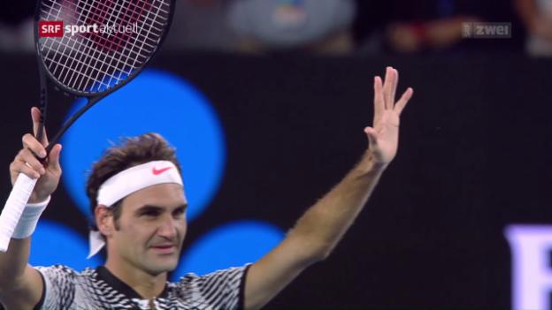 Video «Souveräner Federer gibt nur 8 Games ab» abspielen