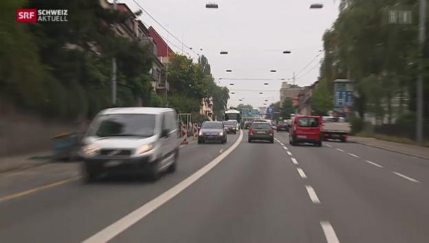 Video «Meistbefahrene Quartierstrasse der Schweiz soll entlastet werden» abspielen