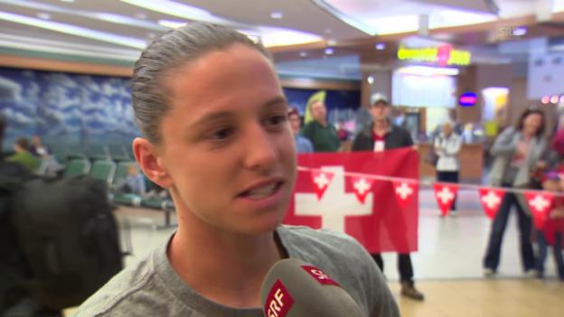 Video «Fussball: Frauen-WM, Interview mit Humm» abspielen
