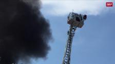 Link öffnet eine Lightbox. Video Dachbrand in Aarau abspielen