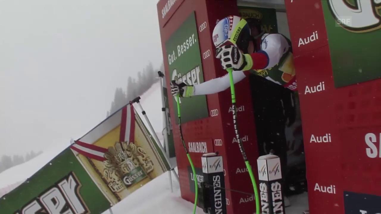Ski Alpin, Männer SuperG in Saalbach, Fahrt von Janka