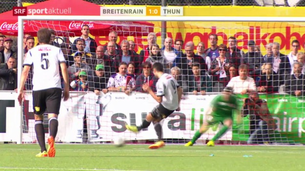 Video «Fussball: Cup, Breitenrain - Thun» abspielen