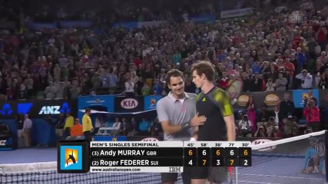 Tennis: Highlights Federer - Murray («sportlive», 25.01.2013)