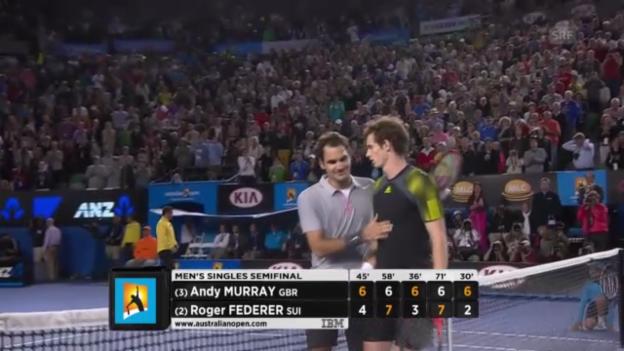 Video «Tennis: Highlights Federer - Murray («sportlive», 25.01.2013)» abspielen