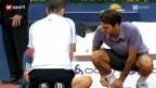 Video «Federer meistert Starthürde locker» abspielen