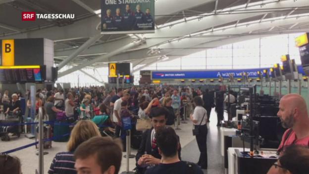 Video «British Airways vorübergehend lahmgelegt» abspielen