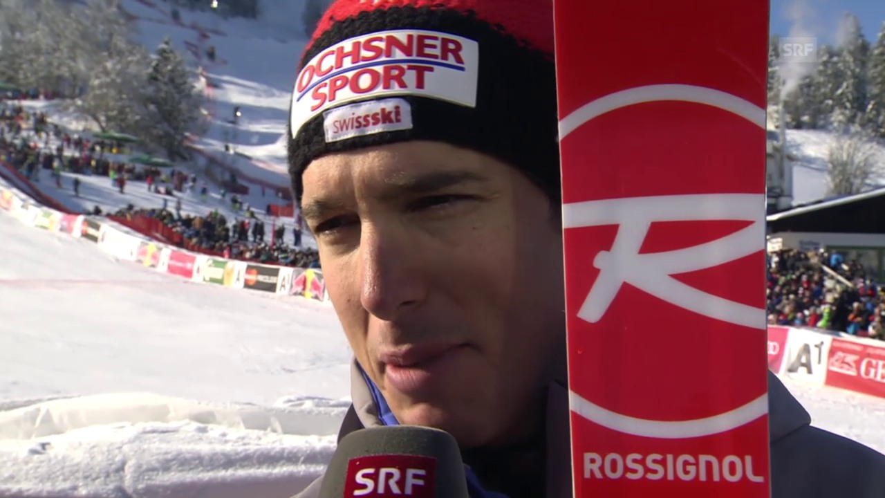 Carlo Janka im Interview nach dem Super-G