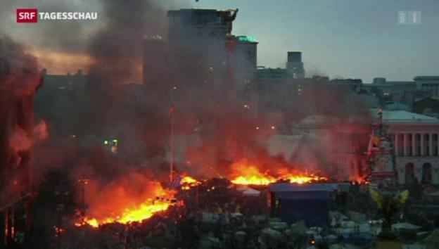 Video «Weitere Proteste auf dem Maidan» abspielen