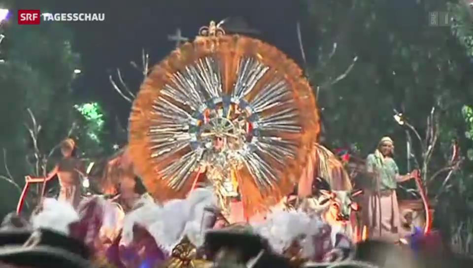 Offizielle Karneval-Eröffnung in Rio de Janeiro