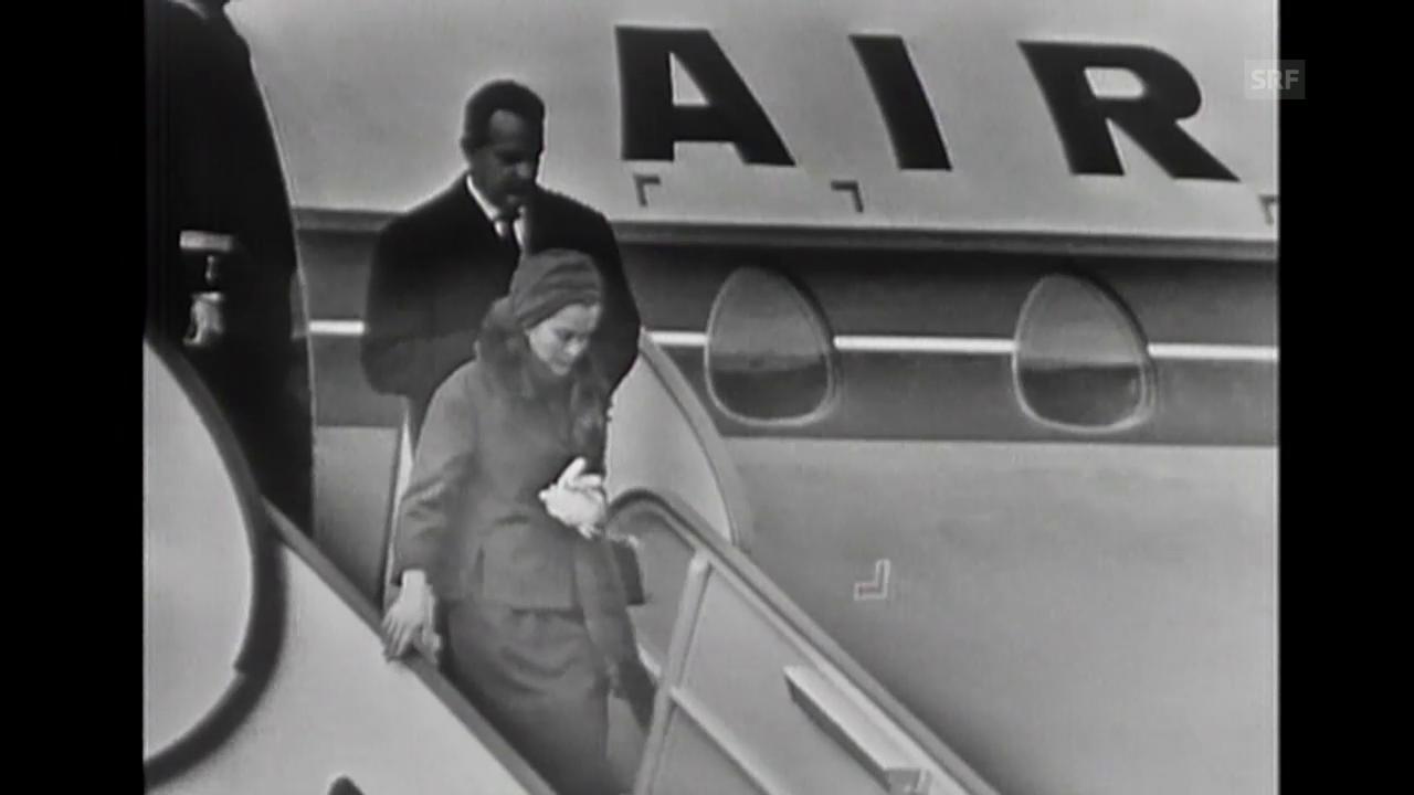 Landung in Genf (Tagesschau o. Kommentar, 7.11.1960)