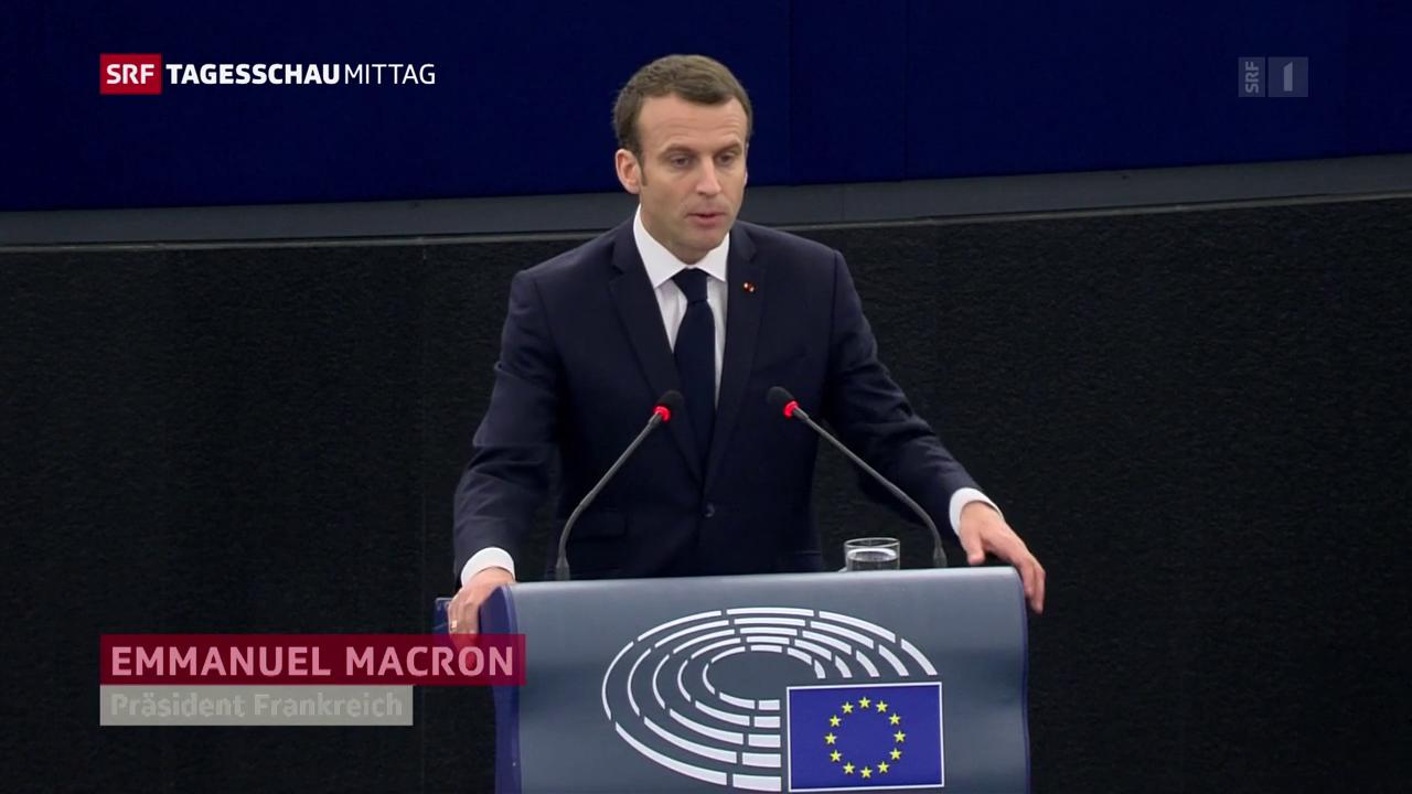 Macron: «Europa muss sich im Alltag bewähren»