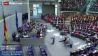 Video «Bundestag ist funktionsfähig» abspielen
