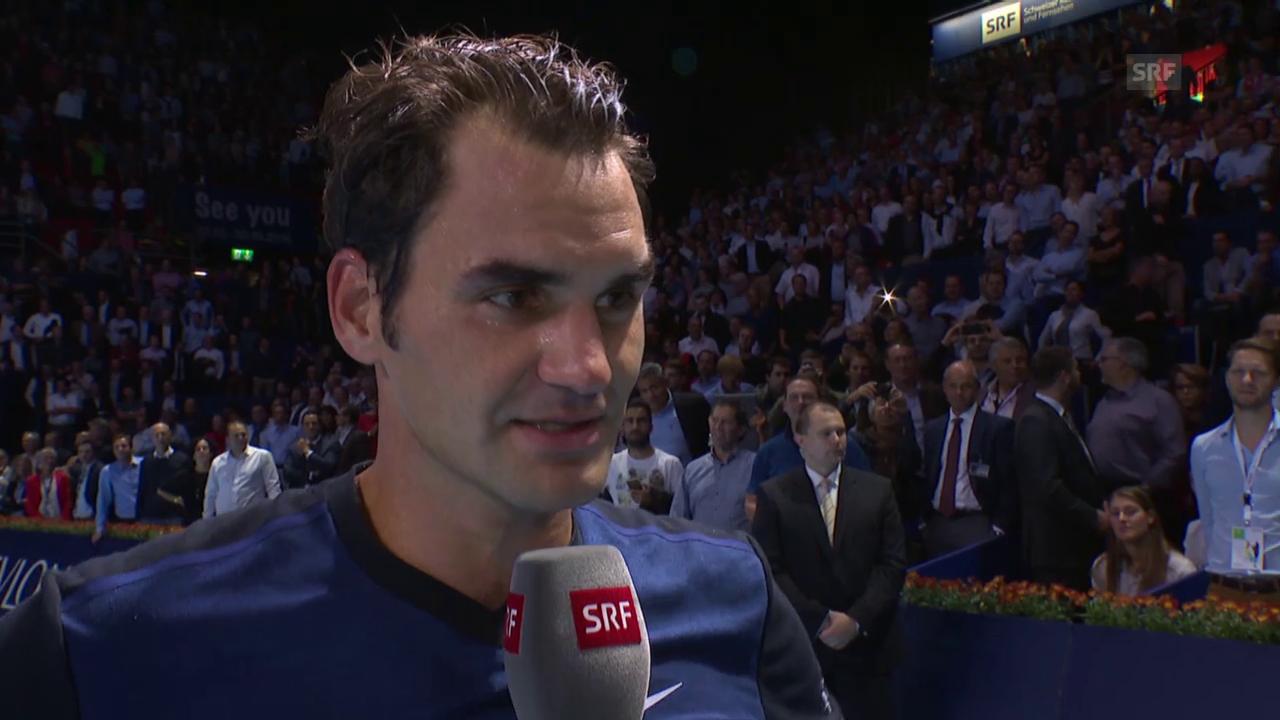 Te: Basel, Platzinterview Federer