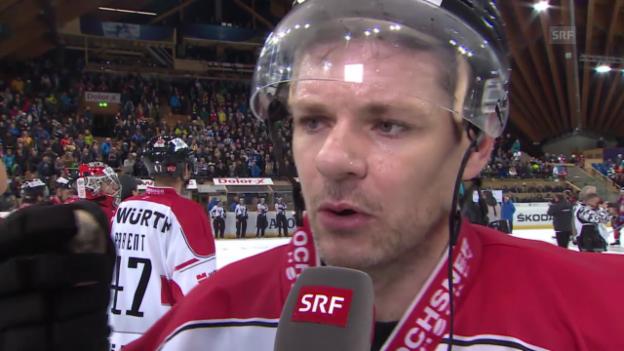 Video «Eishockey: Spengler Cup, Interview Byron Ritchie» abspielen
