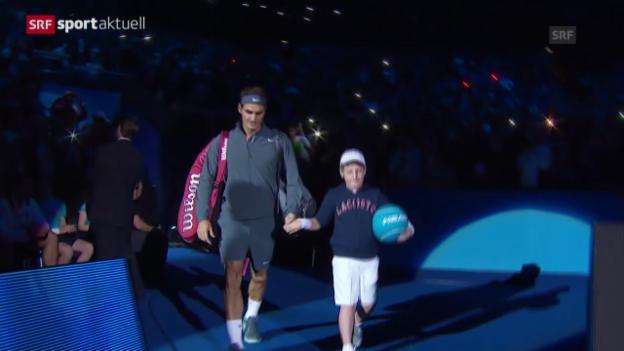 Video «Tennis: ATP Finals in London, Roger Federer vor seiner 13. Teilnahme» abspielen