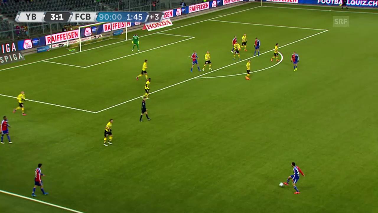 Fussball: Super League, YB - Basel, Tor von Streller zum 2:3
