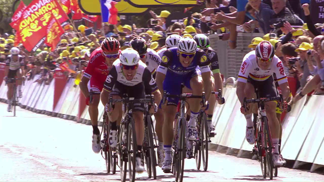 Cavendish gewinnt 1. TdF-Etappe im Sprint