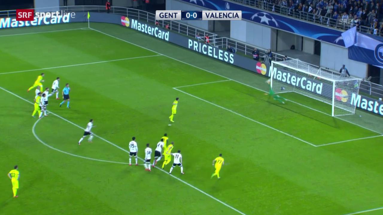 Fussball: Champions League, Zusammenfassung Gent - Valencia