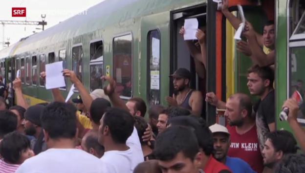 Video «Die Situation im Bahnhof von Bicske spitzt sich zu» abspielen
