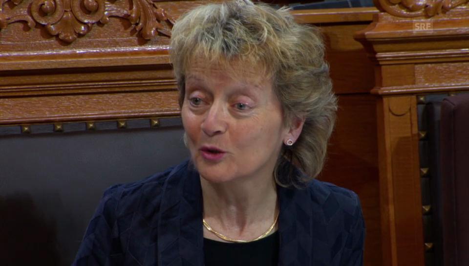 Eveline Widmer-Schlumpf: Das Parlament wollte immer das Gegenteil