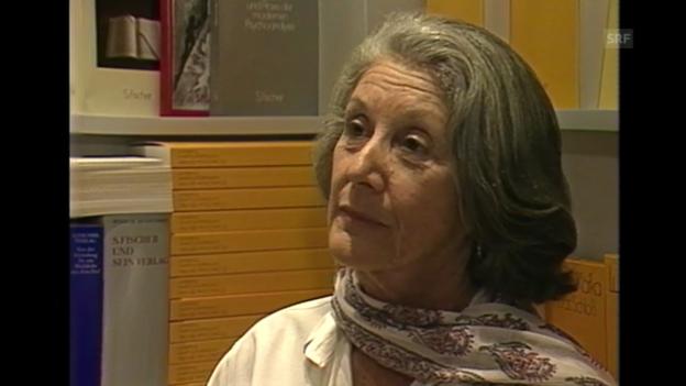 Video «Literaturmagazin vom 18.01.1987: Nadine Gordimer über Rassen-Politik und Literatur» abspielen