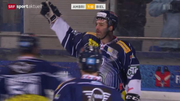 Video «Ambri schöpft dank Heimsieg gegen Biel neue Playoff-Hoffnungen» abspielen