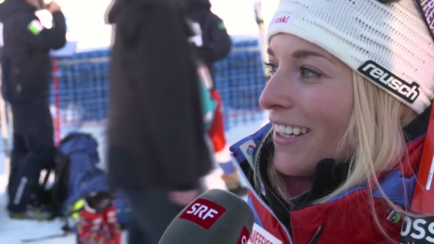 Video «Ski Alpin: Weltcup Lake Louise, Super-G, Interview Gut» abspielen