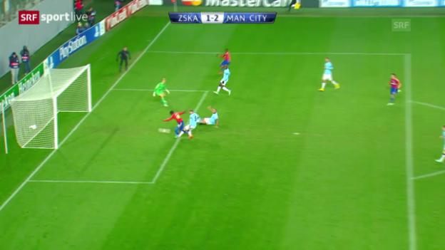 Video «Fussball: Champions-League, ZSKA Moskau - ManCity» abspielen