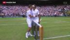 Video «Federer schlägt Wawrinka und steht im Halbfinal» abspielen