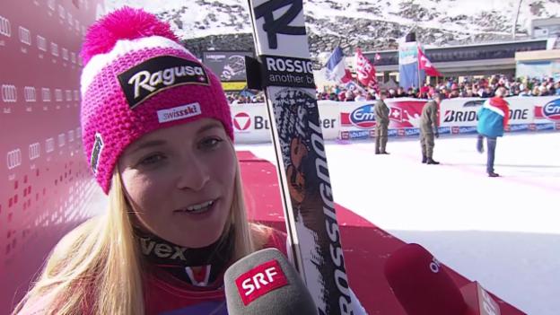 Video «Lara Gut: «Versuchte einfach, cool zu bleiben»» abspielen
