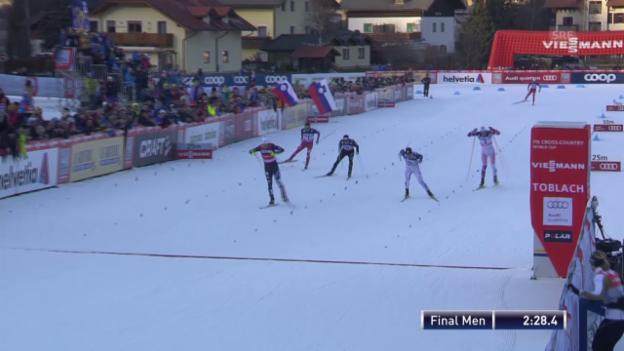 Video «Langlauf: Der Toblach-Final mit Hediger» abspielen