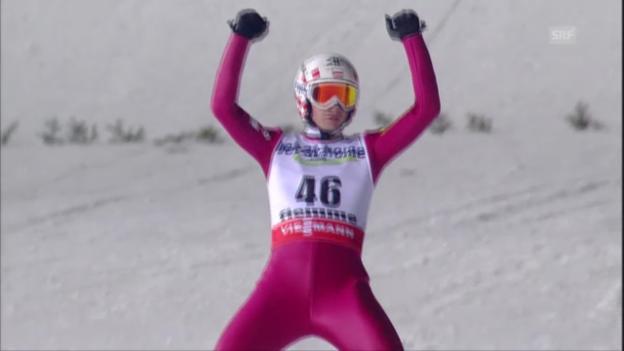 Video «Kamil Stochs 2. Sprung («sportlive»)» abspielen