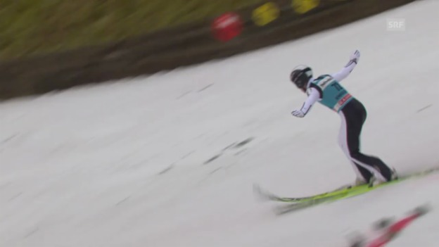 Video «Skispringen: Weltcup, Engelberg, 2. Sprung Koudelka» abspielen