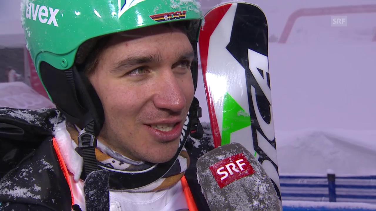 Ski alpin: WM 2015 Vail/Beaver Creek, Slalom der Männer, Neureuther im Interview