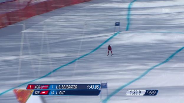 Video «Ski: Zusammenfassung Kombi-Abfahrt Frauen (10.02.2014)» abspielen