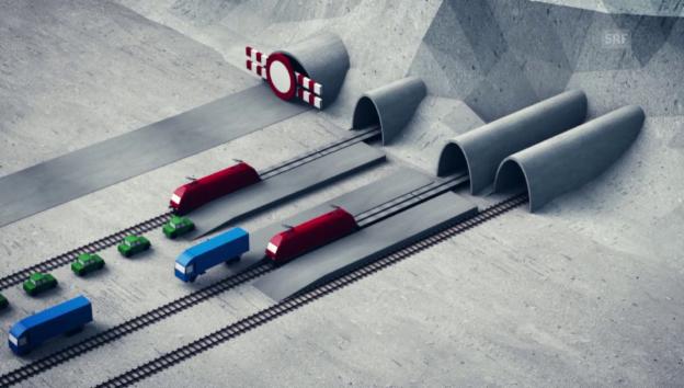 Video «Die «RoLa» während der Tunnelsanierung» abspielen
