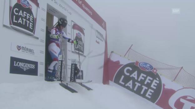 Video «Ski: Weltcupfinale Méribel, Riesenslalom Frauen, 2. Lauf Lara Gut» abspielen