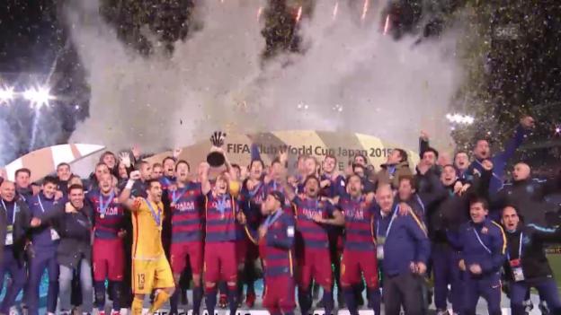 Video «Fussball: Final Klub-WM, Zusammenfassung River Plate - Barcelona» abspielen