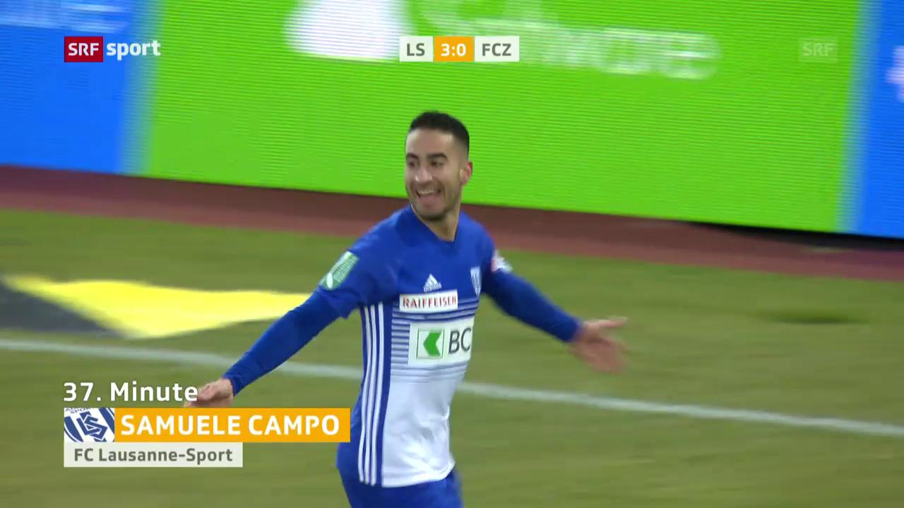 Campo trifft im letzten Spiel für Lausanne